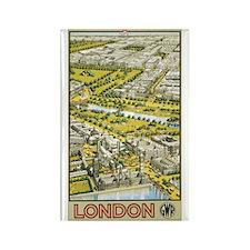 Vintage Urban London Travel P Rectangle Magnet (10