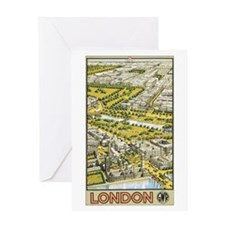 Vintage Urban London Travel P Greeting Card