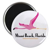 Miami Beach Flamingo - Magnet