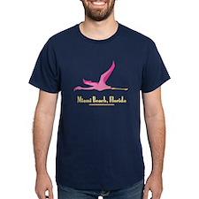 Miami Beach Flamingo - T-Shirt
