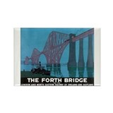The Forth Bridge Vintage Trav Rectangle Magnet