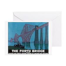 The Forth Bridge Vintage Trav Greeting Cards (Pk o