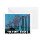 The Forth Bridge Vintage Trav Greeting Card