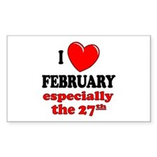 February 27th Rectangle Decal