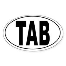 Tabago Airport Oval Decal