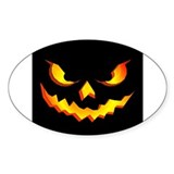 Halloween Pumpkin Face Oval Decal