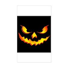 Halloween Pumpkin Face Rectangle Decal