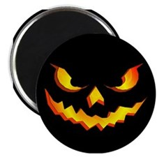 "Halloween Pumpkin Face 2.25"" Magnet (10 pack)"