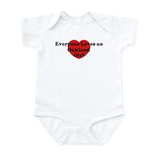 Oakland girl Infant Bodysuit