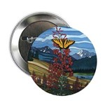 Canadian Landscape Butterfly Button