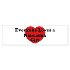 Nebraska girl Bumper Bumper Sticker