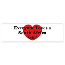 South Africa girl Bumper Bumper Sticker