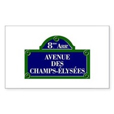 Avenue des Champs-Élysées, Paris - France Decal