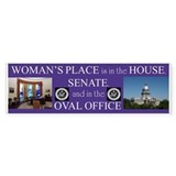 Woman's Place bumper sticker