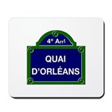 Quai d'Orl&#233;ans, Paris - France Mousepad