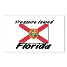 Treasure Island Florida Rectangle Decal