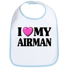 I Heart ( Love ) My Airman Bib