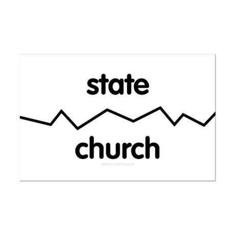Separate Church and State Mini Poster Print