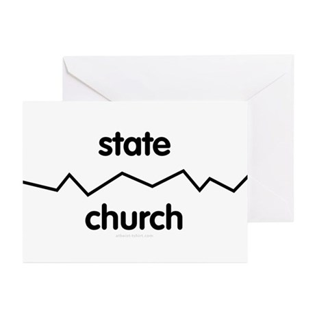 Separate Church and State Greeting Cards (Pk of 10