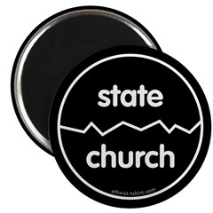 "Separate Church and State 2.25"" Magnet (100 pack)"