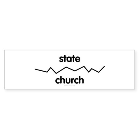 Separate Church and State Bumper Sticker