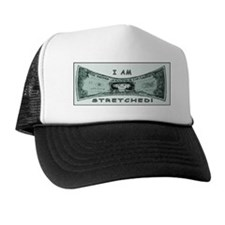 Strethed Dollar Trucker Hat