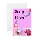 Soap Diva Birthday Card