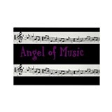 """Angel of Music"" Rectangle Magnet"