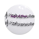 Angel of Music Ornament (Round)