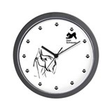 in white and black too Wall Clock