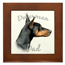 Dobie Dad2 Framed Tile