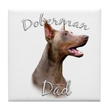 Dobie Dad2 Tile Coaster