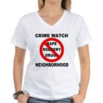 Crime Watch Neighborhood Women's V-Neck T-Shirt