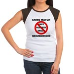 Crime Watch Neighborhood Women's Cap Sleeve T-Shir
