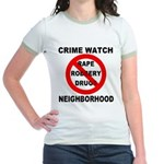 Crime Watch Neighborhood Jr. Ringer T-Shirt