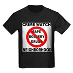 Crime Watch Neighborhood Kids Dark T-Shirt