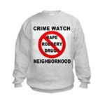 Crime Watch Neighborhood Kids Sweatshirt