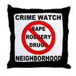 Crime Watch Neighborhood Throw Pillow