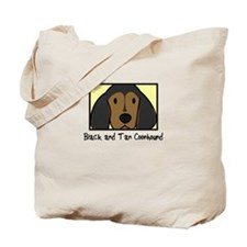 Anime Black Tan Coonhound Tote Bag
