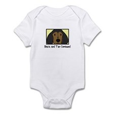 Anime Black Tan Coonhound Baby Bodysuit