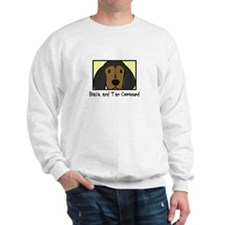 Anime Black Tan Coonhound Sweatshirt