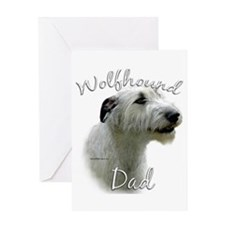 Wolfhound Dad2 Greeting Card