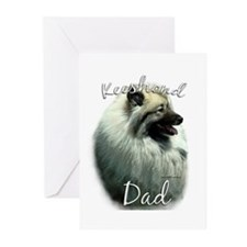 Keeshond Dad2 Greeting Cards (Pk of 10)
