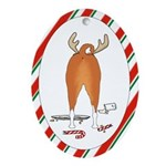 Basenji Christmas Oval Ornament