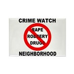 Crime Watch Neighborhood Rectangle Magnet