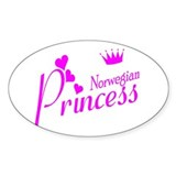 Norwegian Princess Oval Decal