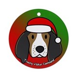 Cartoon Tree Walker Coonhound Christmas Ornament