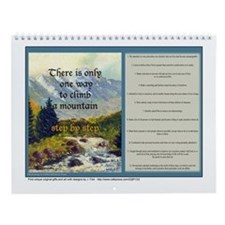 12 Step, 12 month wall calendar