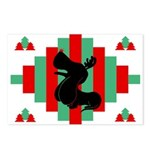 Basset Hound Christmas Postcards (Pk of 8)