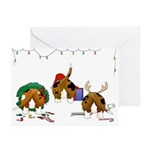Basset Hound Christmas Cards (Pk of 20)